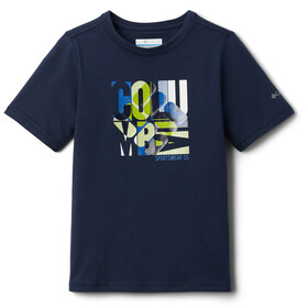 Columbia Roast and Relax T-shirt met Print Jongens, collegiate navy